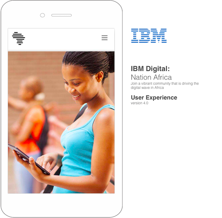 IBM Nation Africa Wireframe